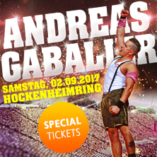 Andreas Gabalier - Live-Hockenheimring: VOLKS-ROCK'N'ROLL SHOW UNLIMITED (02.09.2017) - Special Tickets