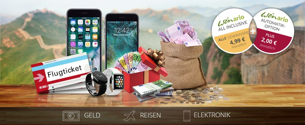Die Automatik-Option zum winario All-Inclusive Paket